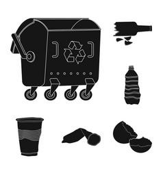 Refuse and junk logo set vector