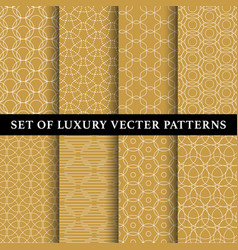 set abstract line patterns vector image