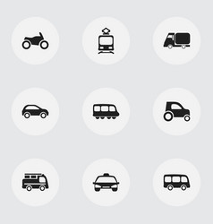 Set of 9 editable shipment icons includes symbols vector