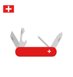 swiss multi-tool knife in classic design vector image