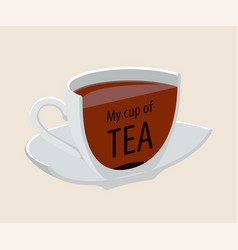 tea cup drink breakfast isolated modern design vector image