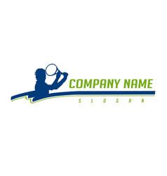 tennis logotype vector image