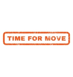 Time For Move Rubber Stamp vector