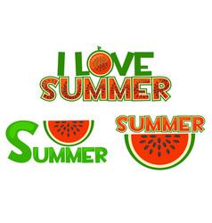 watermelon i love summer summer vector image