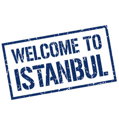 Welcome to istanbul stamp vector