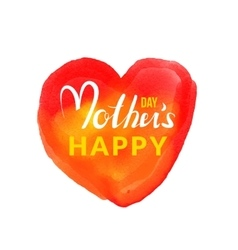 Calligraphic lettering Happy Mothers Day with hand vector image vector image