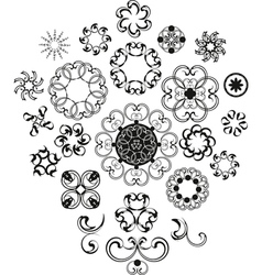 Decorative Vintage Flower Set vector image vector image