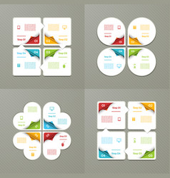 four steps cycling diagrams vector image vector image