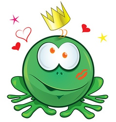 frog cartoon crazy for love vector image vector image
