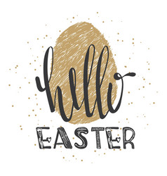 happy easter lettering modern calligraphy style vector image