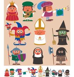 Medieval People 2 vector image