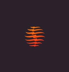 spine logo design medical diagnostic vector image