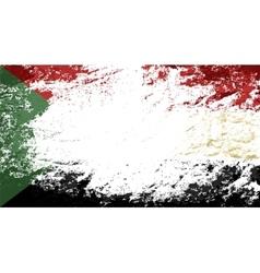 Sudanese flag Grunge background vector image vector image