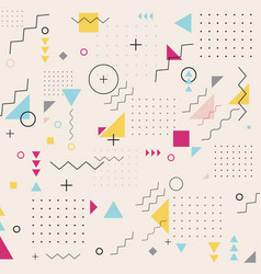 abstract geometric triangle square circle wavy vector image