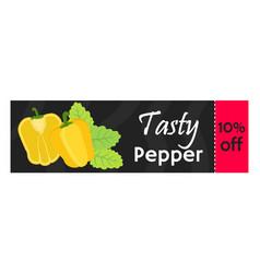 bell pepper sale - organic vegetarian nutrition vector image