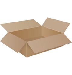 large brown cardboard box vector image