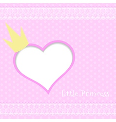 Pink background little princess vector image