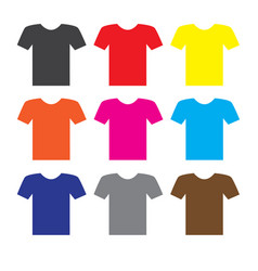 t-shirt icon on white background t-shirt icon vector image vector image