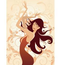 fashion model illustration vector image