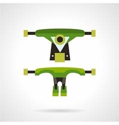 Longboard suspension flat icon vector image