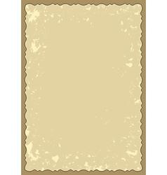 old frame with grunge background vector image