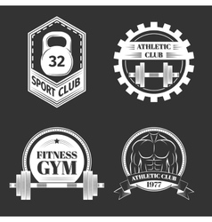 Set of Logo for sport athletic club vector image