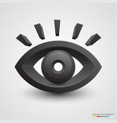 three-dimensional black eye on white background vector image