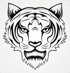 Tiger Head Tattoo vector image vector image