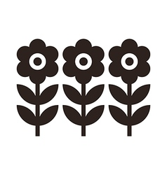 Flowers Symbol vector image vector image