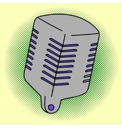 Microphone Pop art vector image vector image