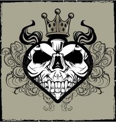 Skull Heart Tattoo vector image vector image