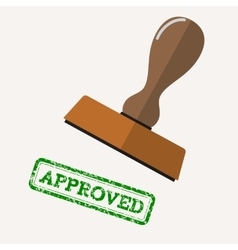 stamp approved with green text vector image vector image