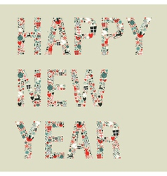 2013 happy new year xmas icons vector image