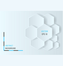 3d hexagons abstract background vector image