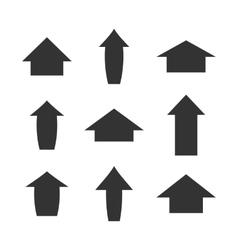 A set of arrows vector image