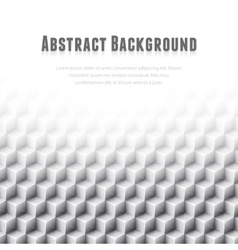 Abstract geometric background White glass cubes vector image