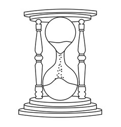 abstract old sand clock vector image