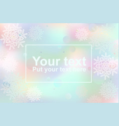 abstract template with snowflakes and frame vector image