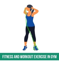 Aerobic icons RESISTANCE BAND vector image