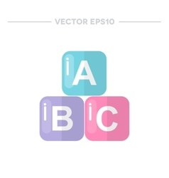 alphabet blocks icon vector image