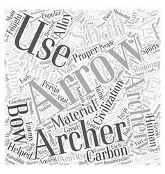 archery arrows Word Cloud Concept vector image