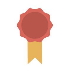 award ribbon rosette best quality emblem vector image