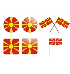 badges with flag of Macedonia vector image
