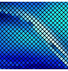 Beautiful blue mosaic vector image