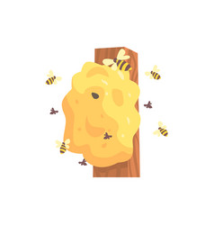 Beehive hornets or wasp nest cartoon vector