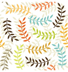 beige branch patterns vector image