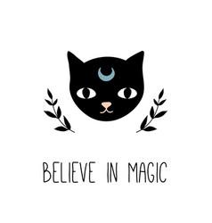 believe in magic inspirational quote vector image