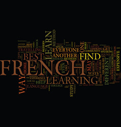 Best french advice text background word cloud vector