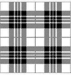 Black and white tartan plaid seamless pattern vector