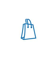 Blue bag shop with hands logo design icon vector